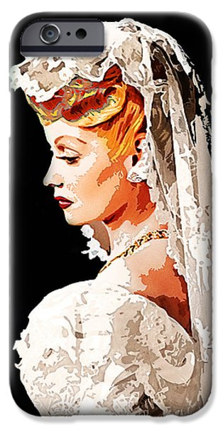Bride iPhone Cases - Lucille Ball Bride iPhone Case by Nuno Marques