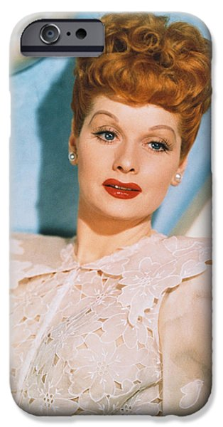 1950s Portraits iPhone Cases - Lucille Ball in Lover Come Back iPhone Case by Nomad Art And  Design