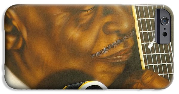 B.b.king iPhone Cases - Lucille iPhone Case by Darren Robinson
