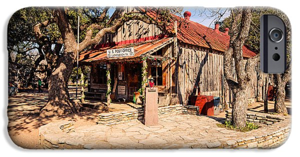 Oak Creek iPhone Cases - Luckenbach Post Office in Golden Hour Light - Texas Hill Country iPhone Case by Silvio Ligutti
