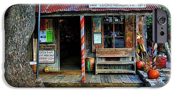 Town iPhone Cases - Luckenbach TX iPhone Case by Judy Vincent