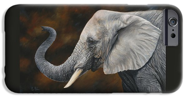 Elephants iPhone Cases - Lucky iPhone Case by Lucie Bilodeau