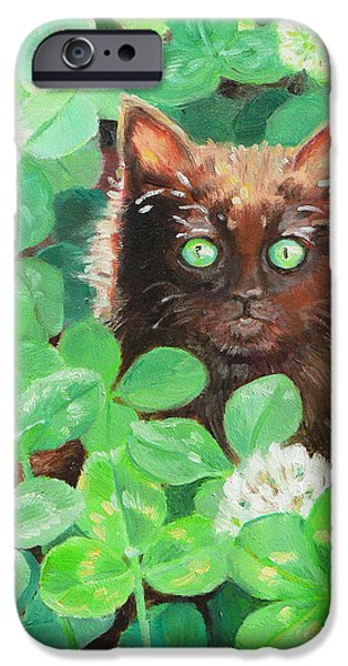 Fate Paintings iPhone Cases - Lucky iPhone Case by Tina Welter