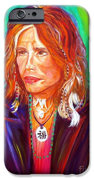 Steven Tyler Paintings iPhone Cases - Lucky iPhone Case by To-Tam Gerwe