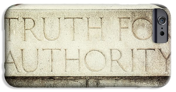 Quaker iPhone Cases - Lucretia Mott Truth for Authority iPhone Case by Lisa Russo