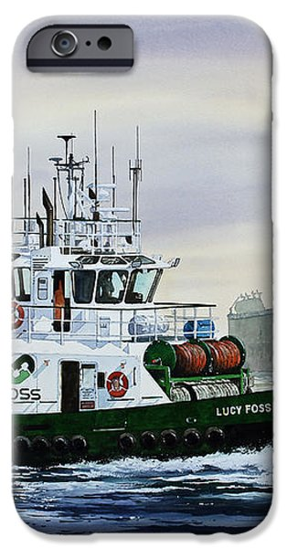 LUCY FOSS iPhone Case by James Williamson