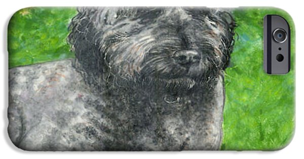 Dog Ceramics iPhone Cases - Lucy the Goldendoodle iPhone Case by Dy Witt
