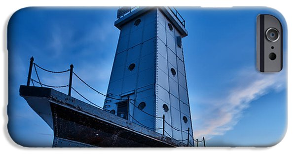 Stars Photographs iPhone Cases - Ludington Lighthouse iPhone Case by Sebastian Musial