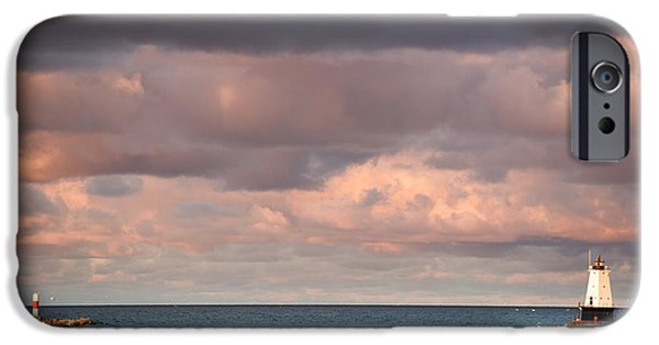 Storm Photographs iPhone Cases - Ludington iPhone Case by Sebastian Musial