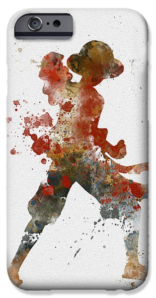 Animation iPhone Cases - Luffy iPhone Case by Rebecca Jenkins