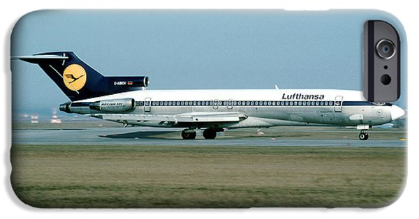 Star Alliance Airlines Photographs iPhone Cases - Lufthansa Boeing 727 iPhone Case by Wernher Krutein