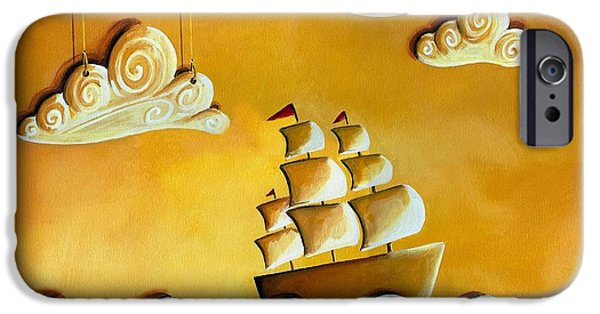 Ships iPhone Cases - Lullaby Bay iPhone Case by Cindy Thornton