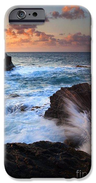 Lumahai Sea Explosion iPhone Case by Mike  Dawson