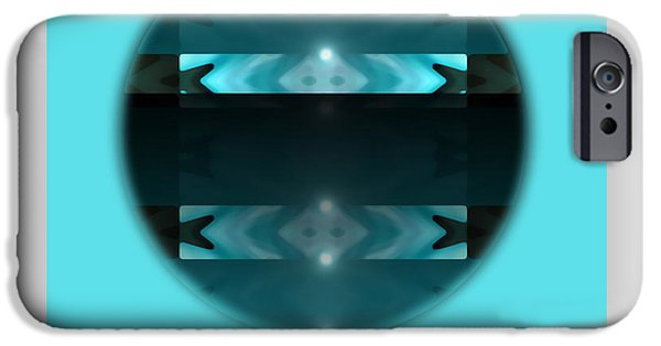 Lumiere iPhone Cases - Lumiere Blue Circle iPhone Case by Mihaela Stancu