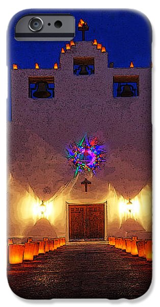 Luminaria Saint Francis De Paula Mission iPhone Case by Bob Christopher