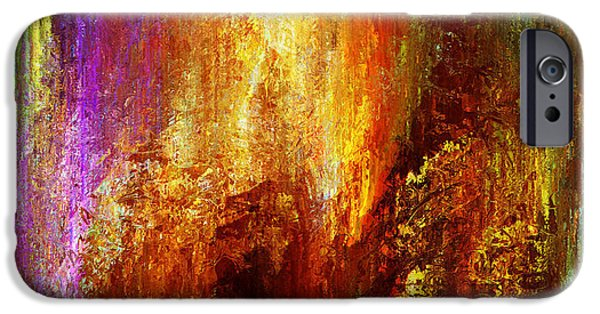 Abstract On Canvas Paintings iPhone Cases - Luminous - Abstract Art iPhone Case by Jaison Cianelli