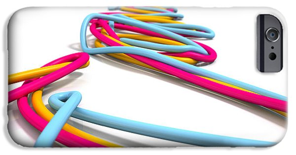 Business iPhone Cases - Luminous Cables Closeup iPhone Case by Allan Swart