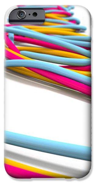 Luminous Cables Closeup iPhone Case by Allan Swart