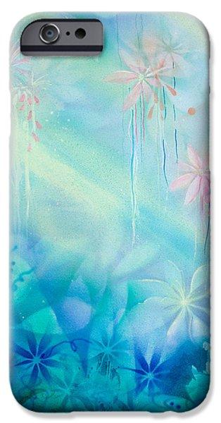 Airbrush iPhone Cases - Luminous Garden iPhone Case by Michelle Wiarda