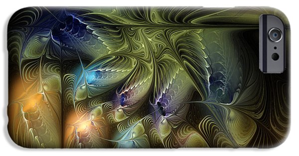 Abstract Flowers Images iPhone Cases - Luminous Star iPhone Case by Karin Kuhlmann