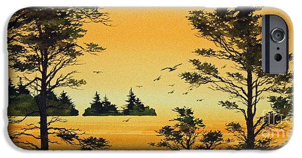 Sunset Framed Prints iPhone Cases - Luminous Sunset iPhone Case by James Williamson