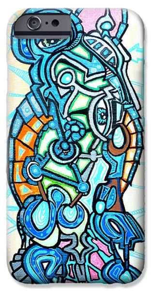Bio-mechanical iPhone Cases - Luminous Vessel iPhone Case by Larry Calabrese