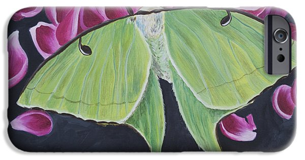 Southern Indiana iPhone Cases - Luna Moth iPhone Case by Jaime Haney