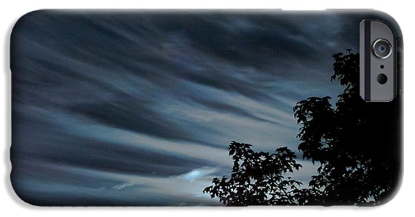 Moonscape Mixed Media iPhone Cases - Lunar art iPhone Case by Optical Playground By MP Ray