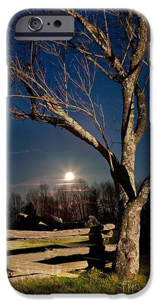 Groundhog iPhone Cases - Lunar Landing - Blue Ridge Parkway iPhone Case by Dan Carmichael