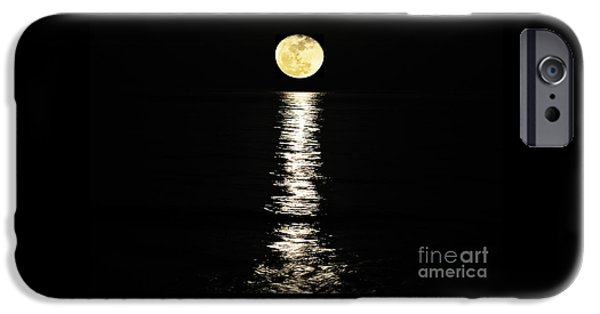 Moon Beach iPhone Cases - Lunar Lane iPhone Case by Al Powell Photography USA