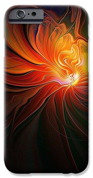 Floral Digital Art Digital Art iPhone Cases - Lunar Lotus iPhone Case by Amanda Moore