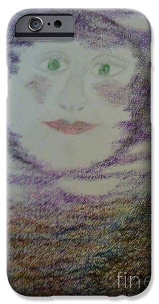 Tripple iPhone Cases - Lunas Smile iPhone Case by Yve Hockenbury Moore