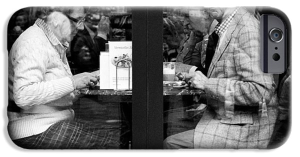 Candid Photographs iPhone Cases - Lunch iPhone Case by Dave Bowman