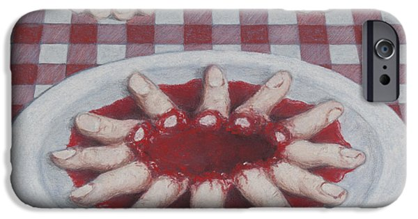 Creepy Pastels iPhone Cases - Lunch iPhone Case by Paulie Polka