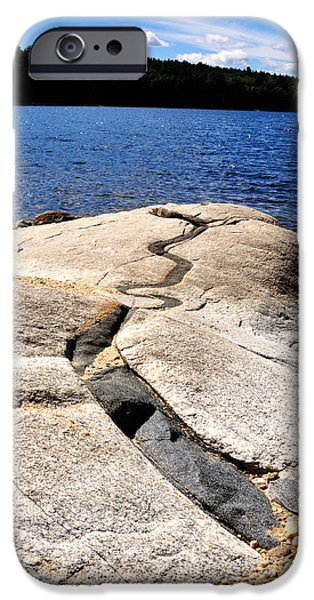 Central Massachusetts iPhone Cases - Lunch Rock iPhone Case by J Scott Davidson