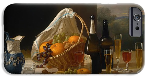 Table Wine iPhone Cases - Luncheon Still Life iPhone Case by John Francis