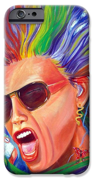 Steven Tyler Paintings iPhone Cases - Lunesta iPhone Case by To-Tam Gerwe
