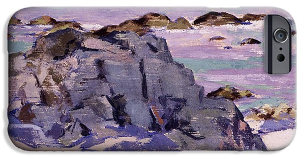 Colorist iPhone Cases - Lunga from above Mermaids iPhone Case by Francis Campbell Boileau Cadell