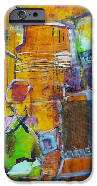 Concept Paintings iPhone Cases - Lurker iPhone Case by Katie Black
