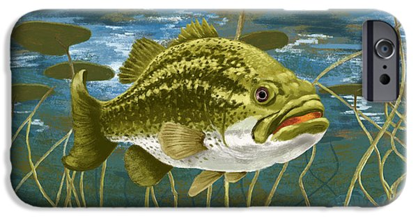 Fresh Water Fish iPhone Cases - Lurking Lunker iPhone Case by Kevin Putman