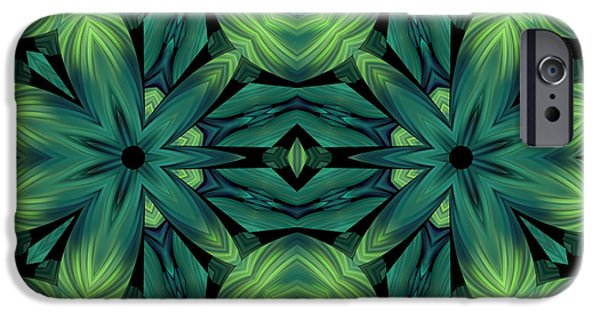 Youthful Mixed Media iPhone Cases - Luscious Greenery iPhone Case by Georgiana Romanovna