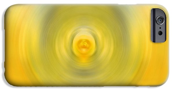 Abstract Expressionist iPhone Cases - Luscious Lemon - Abstract Art by Sharon Cummings iPhone Case by Sharon Cummings