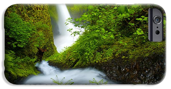 Lush iPhone Cases - Lush Gorge Falls iPhone Case by Darren  White