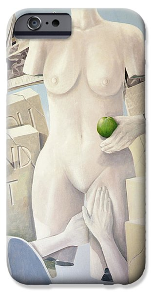 Tablet iPhone Cases - Lust, Legal Consequences Of 11th Commandment Acrylic On Canvas iPhone Case by Lincoln Seligman