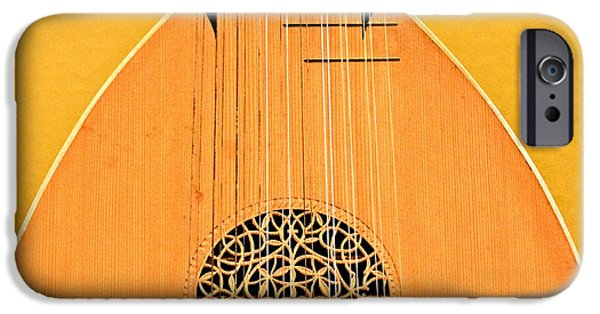 Lute Digital Art iPhone Cases - Lute iPhone Case by John Illingworth