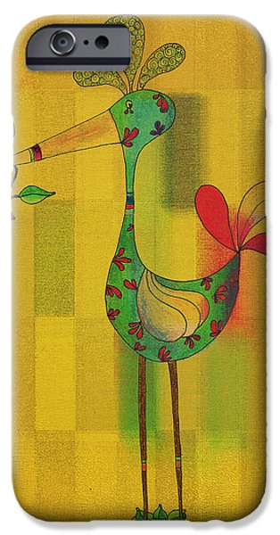 Lutgarde's Bird - 061109106y iPhone Case by Variance Collections