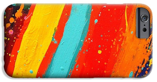 Abstract Expressionism iPhone Cases - Lux  I  iPhone Case by John  Nolan