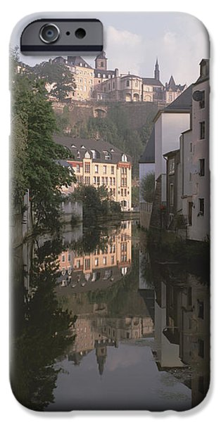 Absence iPhone Cases - Luxembourg, Luxembourg City, Alzette iPhone Case by Panoramic Images