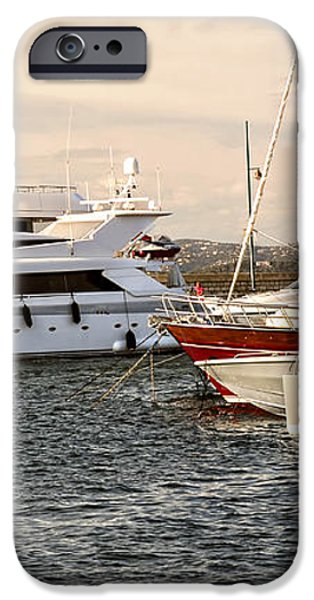 Luxury boats at St.Tropez iPhone Case by Elena Elisseeva