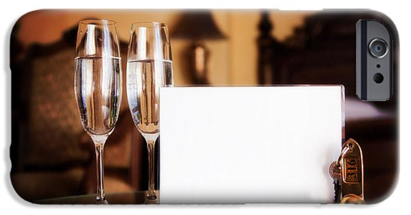Wine Service Photographs iPhone Cases - Luxury hotel room iPhone Case by Michal Bednarek
